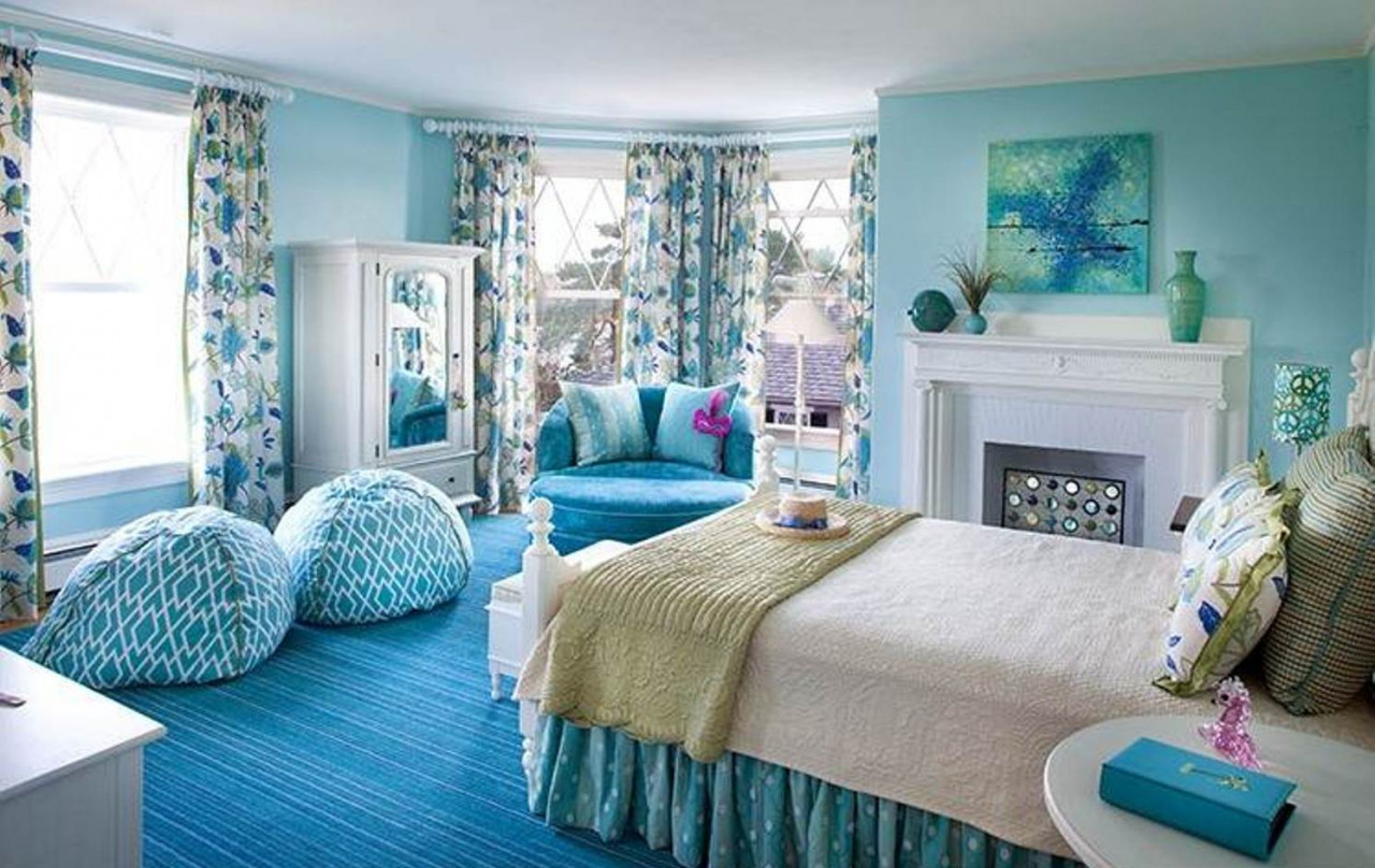 không gian phòng ngủ đa sắc màu