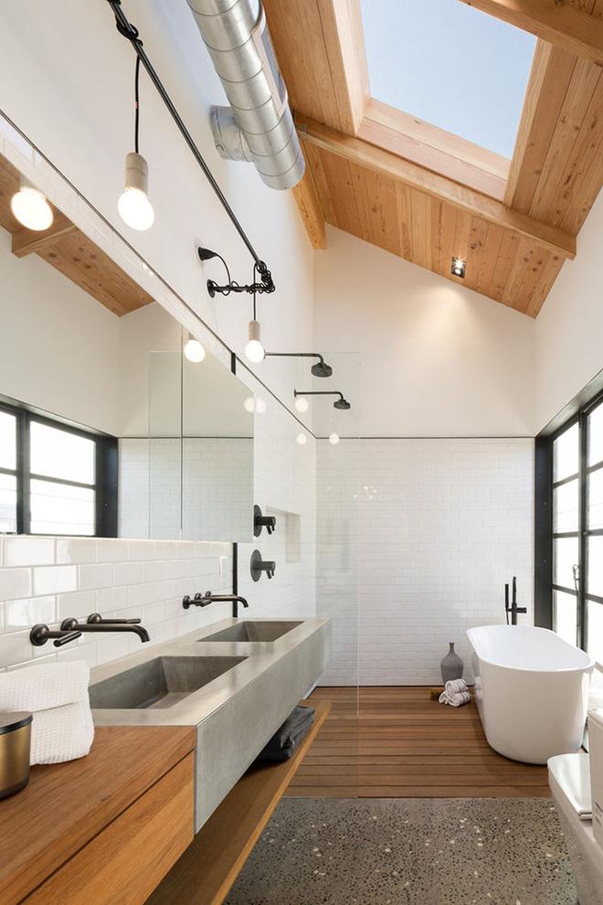 Chỉ cần đủ ánh sáng thôi thì căn phòng tắm đơn sắc cũng có thể mê hoặc vạn người - Ảnh 8.